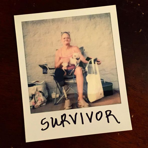 "When asked to write one word to describe herself and her life: ""Survivor."""